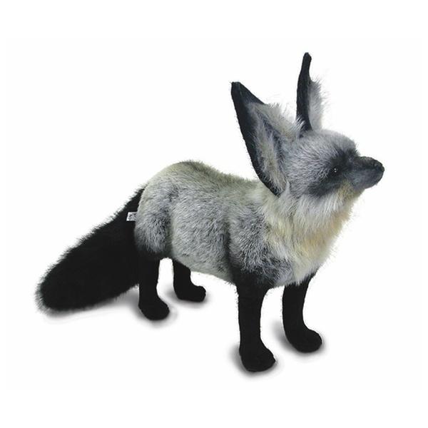 realistic fur fox lifelike wolf amp raccoon stuffed animal - 600×600