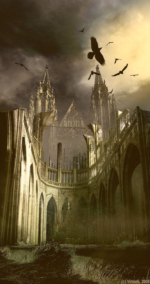 Somber Castle by *vimark on deviantART