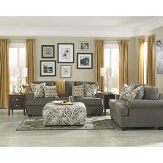 Ashley Furniture Signature Design Coulson   Smoke   Living Room Group at Big Sandy Superstore