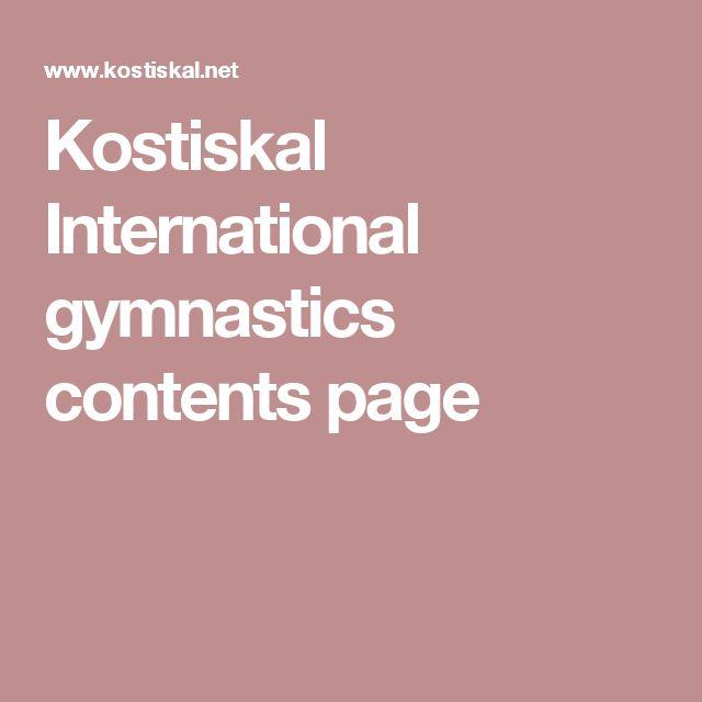 Kostiskal International gymnastics contents page