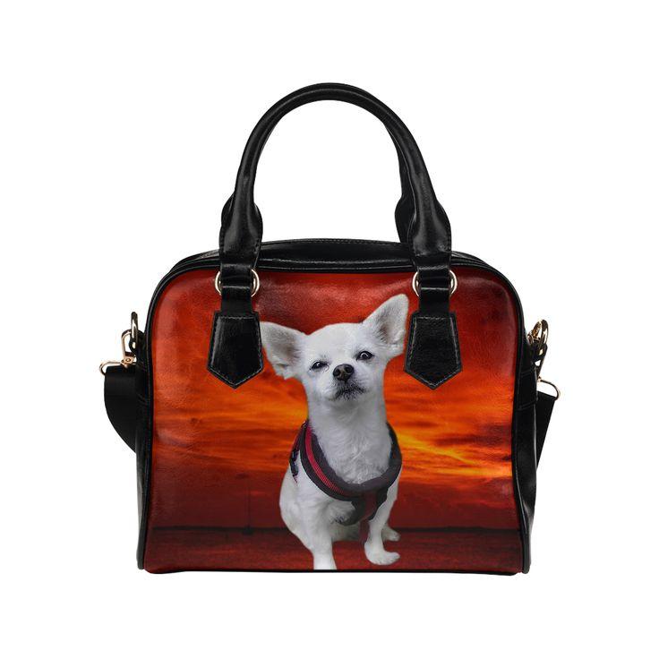 Dog Chihuahua Shoulder Handbag. FREE Shipping. #artsadd #handbags #dogs