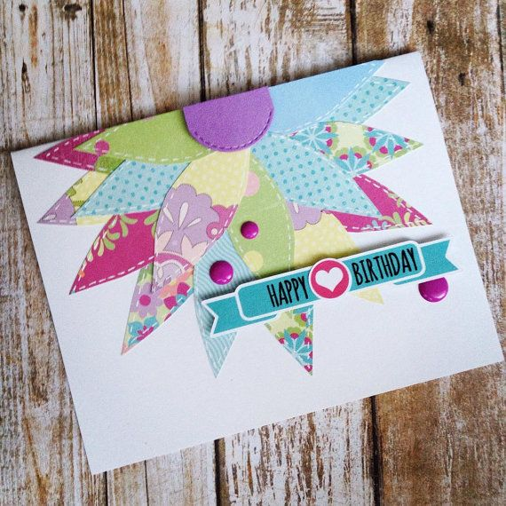 428 best birthdaycardcentral images on pinterest anniversary cards patchwork flower birthday card by birthdaycardcentral bookmarktalkfo Image collections