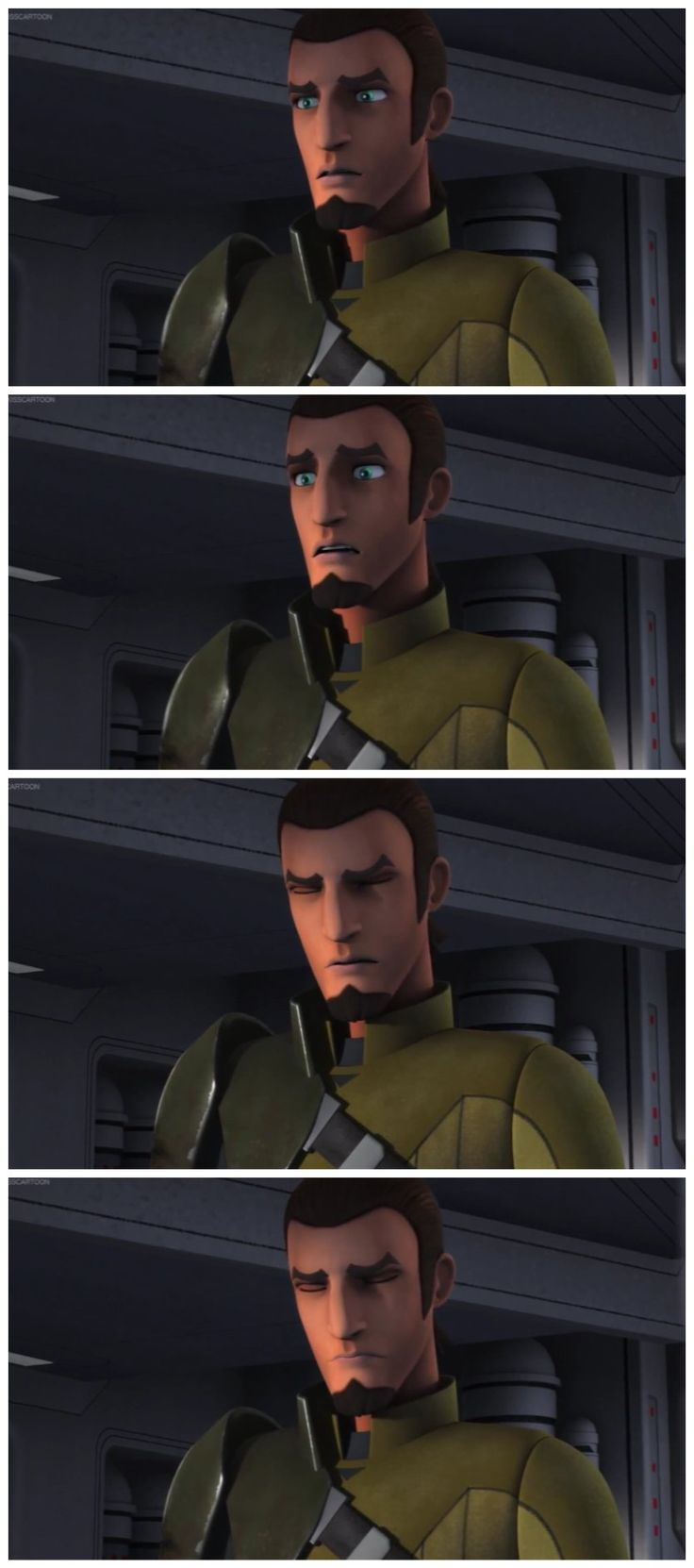 Kanan's reaction to seeing Hera's destroyed ship come out of hyperspace coupled with Sabine's panicked cries for help is absolutely heartbreaking!