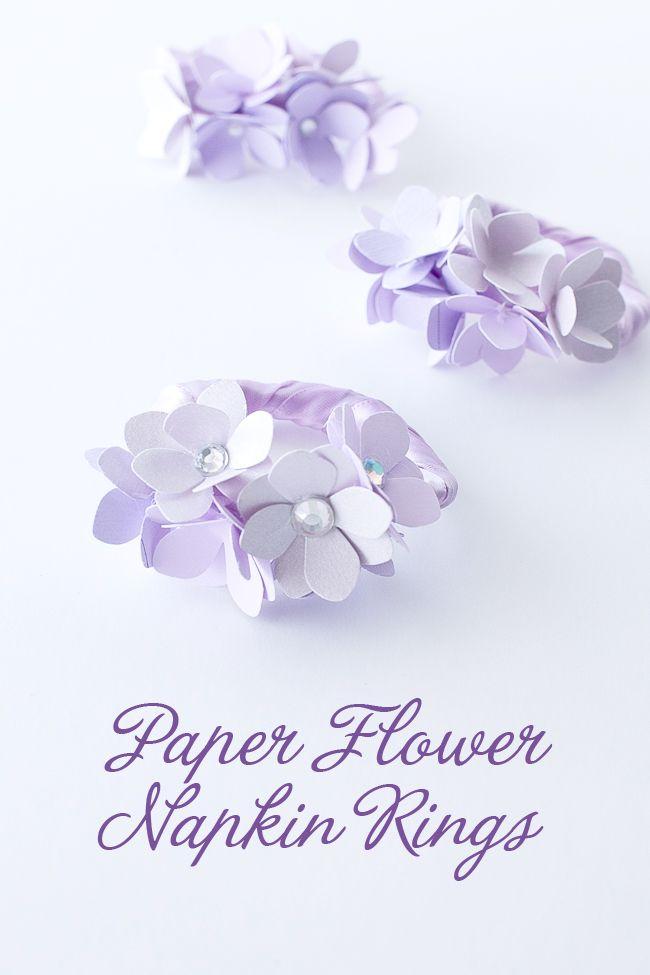 Paper flower napkin ring