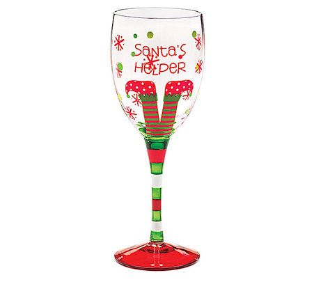 7 best images about wine glasses on pinterest reindeer for Holiday stemware