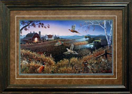North American Art Evening Harvest by Mark Daehlin Wholesale Fine Framed Farm Rustic Pheasant Wildlife Art Print