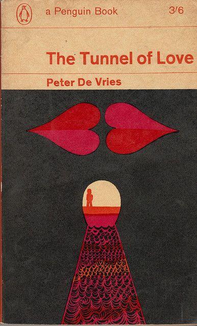 "Cover illustration for ""The Tunnel of Love"" (1964) by English artist, graphic designer & illustrator Alan Aldridge (b.1943). via mjkghk on flickr"