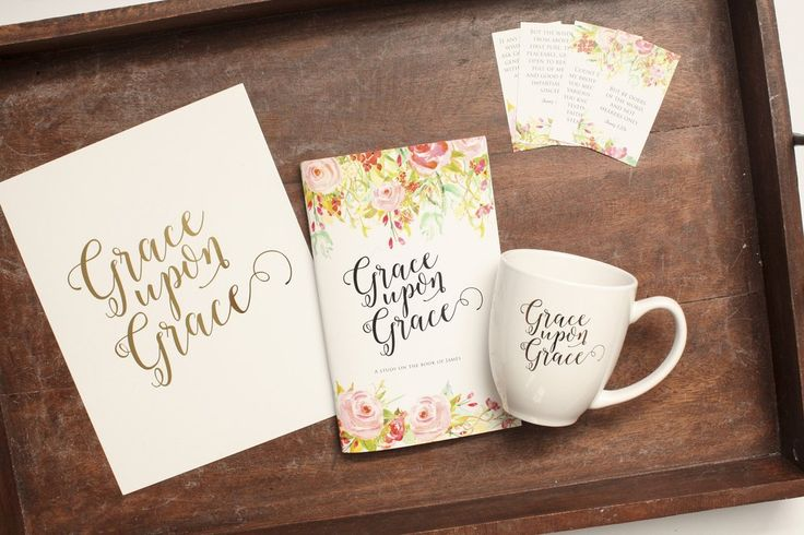 This is a bundle that includes the Grace Upon Gracedevotional, an 8x10 Gold-Foil Print, a set of memory verse cards,...