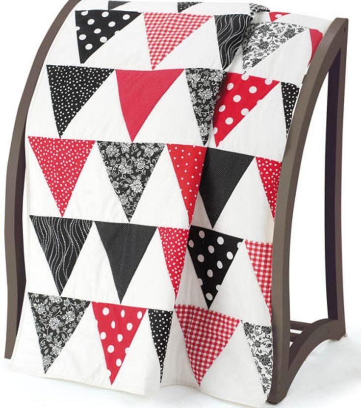ladies spring coats Gorgeous triangle #quilt tutorial | Sewing |  | Triangle Quilts, Triangles and Triangle Quilt Tutorials