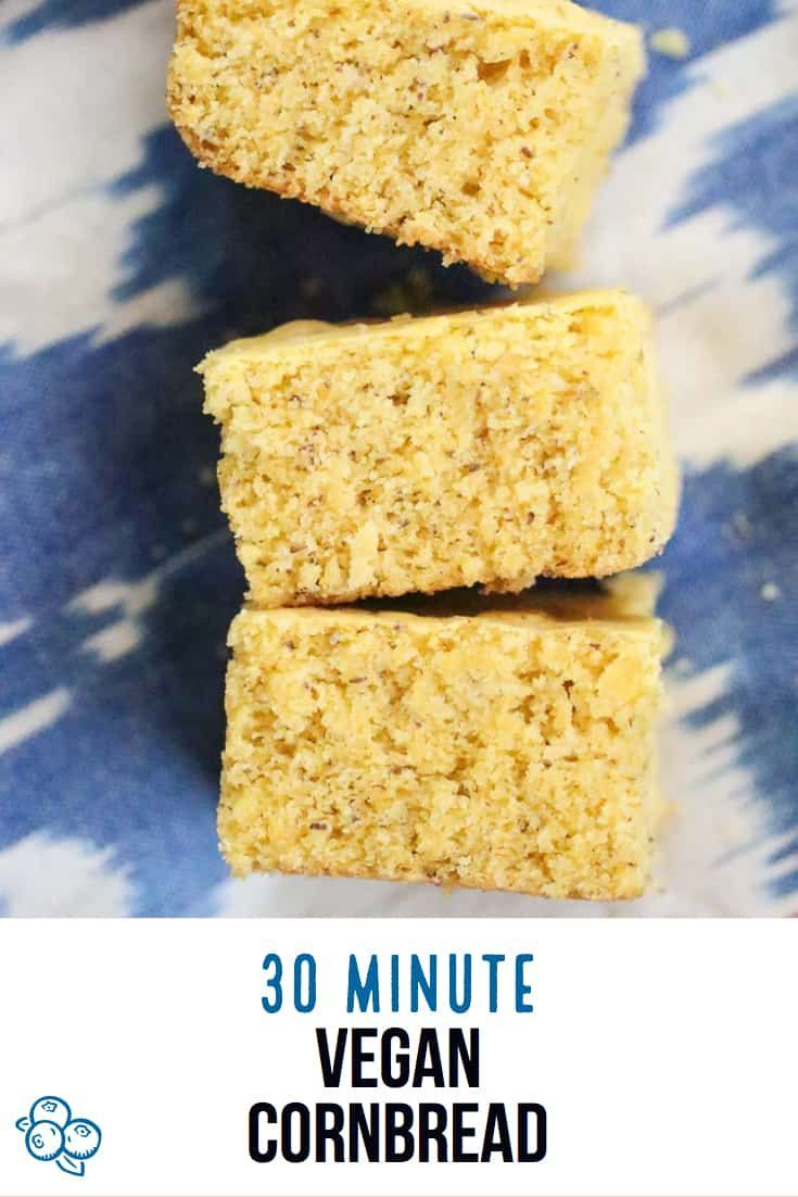 Moist And Lightly Sweet This No Refined Sugar Vegan Cornbread Comes Together In Just A Few Minutes Vegan Snack Recipes Delicious Vegan Recipes Vegan Cornbread