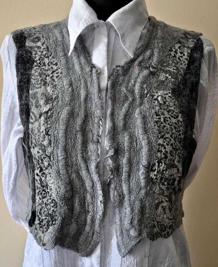 felted vest, vest, nonufelt, grey vest