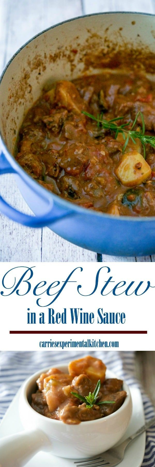Beef stew made with zucchini, garlic, onions, fire roasted tomatoes, fresh rosemary, horseradish and red wine is unbelievably delicious. via @CarriesExpKtchn #beef #stew