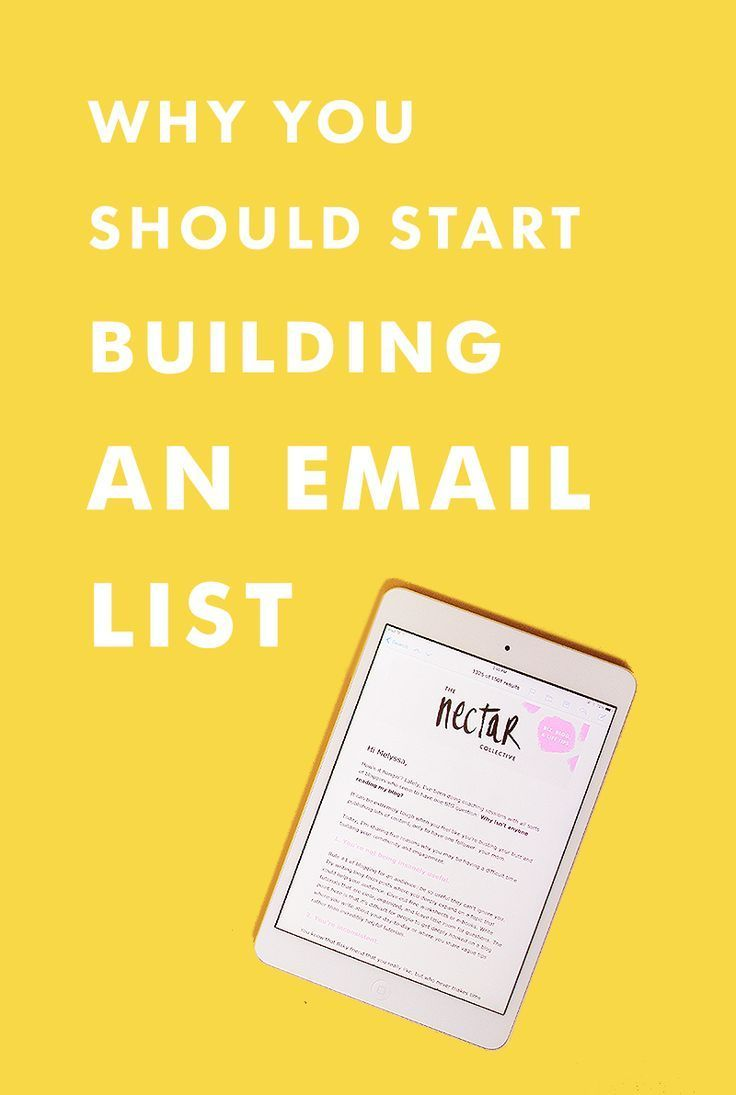 Why You Should Start Building an Email List. | Keep hearing that you should build an email list/start a newsletter, but don't know why? We're giving you the lowdown about why email lists are the BEST.