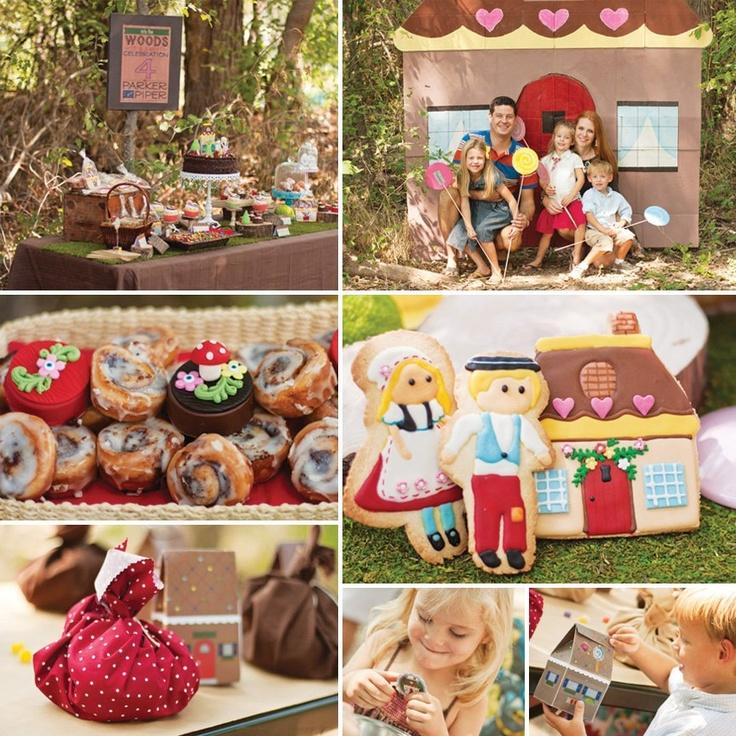 Modern Hansel and Gretel Inspired Woodland Birthday {joint birthday}