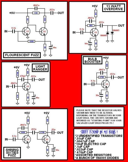 CFL to effect pedal diagrams Guitars and other