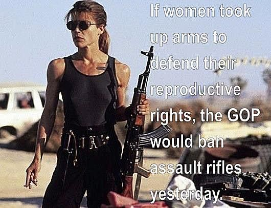 If women took up arms to defend their reproductive rights...