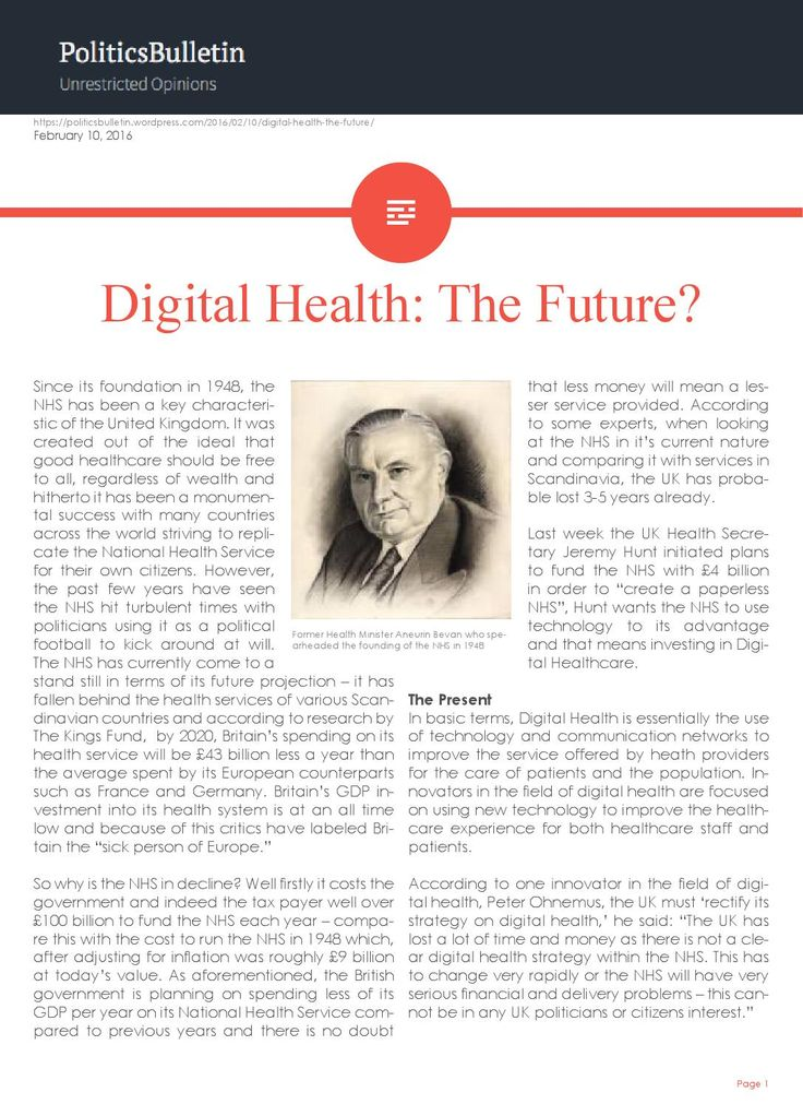 Digital Health: The Future?