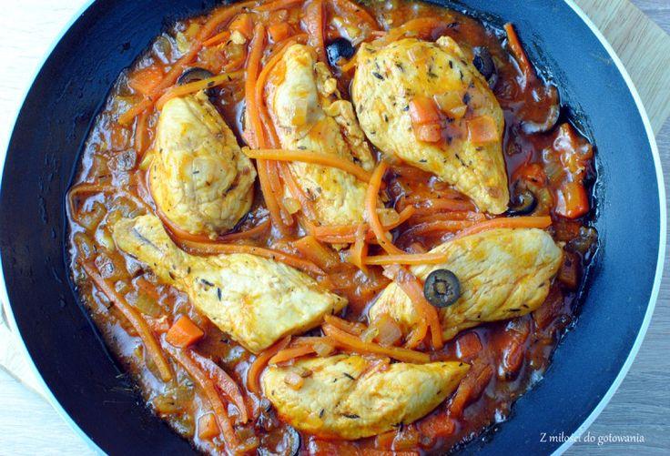 Pierś kurczaka po włosku (w winno-pomidorowym sosie)