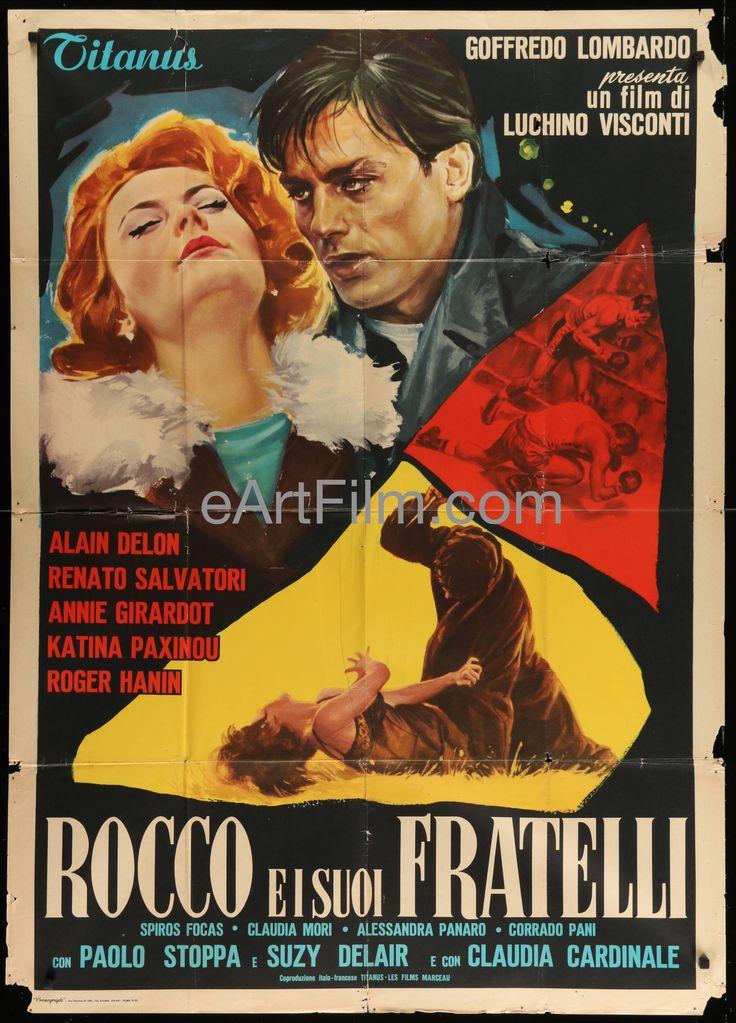 Rocco And His Brothers 1960 39x55 Italian 1 Panel Luchino Visconti-Alain Delon