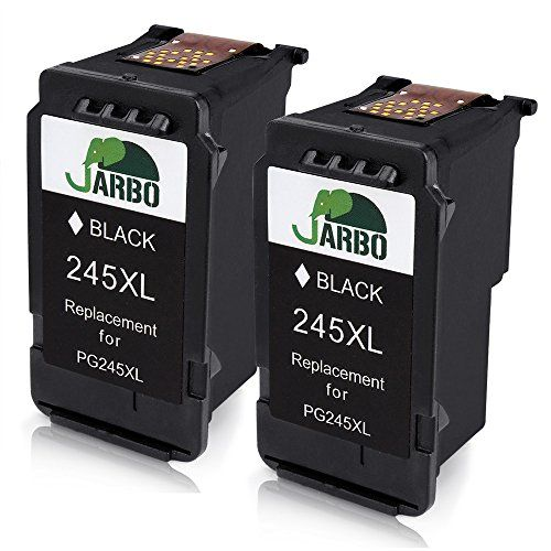 JARBO Remanufactured for Canon PG-245XL Ink Cartridges, 2 Black, Shows Accurate Ink Level, Used in Canon PIXMA MG2520 MG2920 MG2922 MG2924 MG2420 MG2522 MG2525 MG3020 MG2555 MX490 MX492 Printer #JARBO #Remanufactured #Canon #Cartridges, #Black, #Shows #Accurate #Level, #Used #PIXMA #Printer