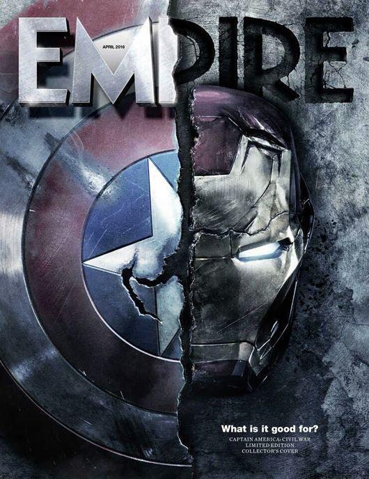 """Guerra Civil: nova capa da Empire, novas fotos, Pepper Potts, Hulk e um """"final controverso"""" ~ Universo Marvel 616"""