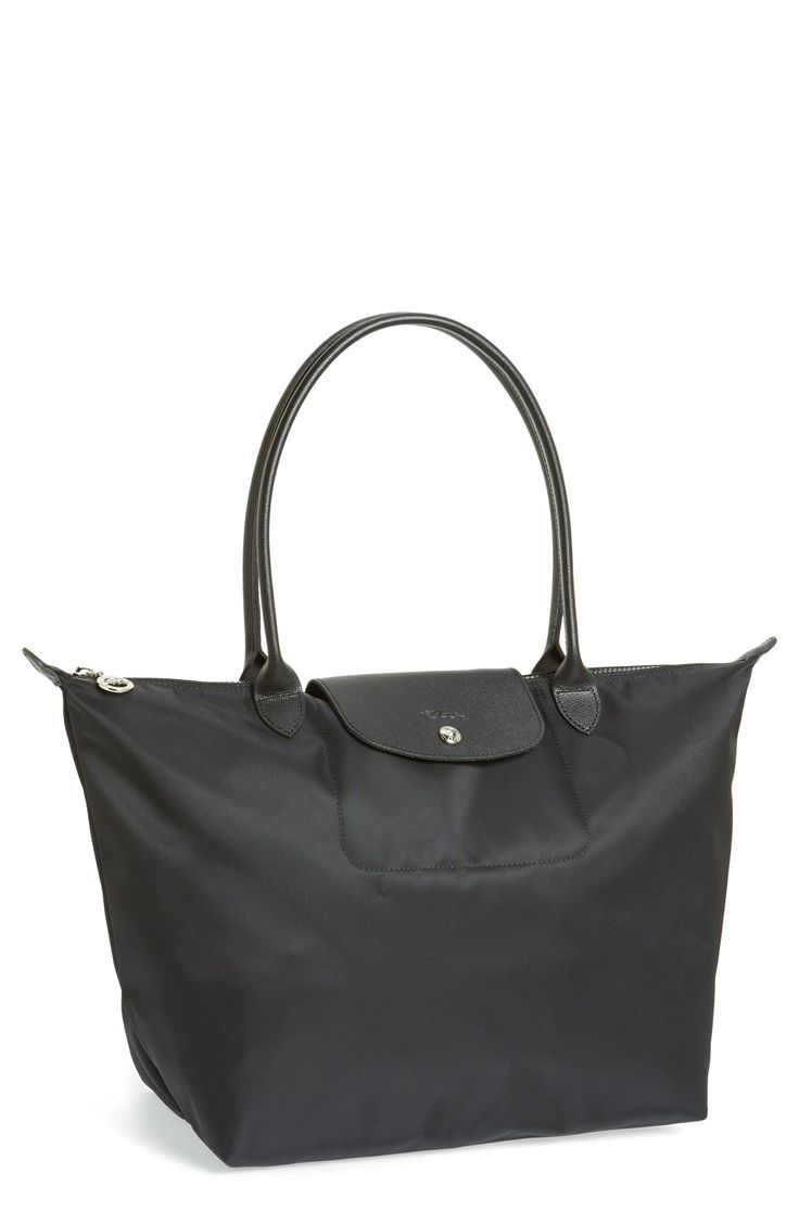 Free shipping and returns on Longchamp 'Large Le Pliage Neo' Nylon Tote at Nordstrom.com. Lightly textured leather borders a sleek, durable nylon tote that folds flat when not in use, making it perfect for travel.