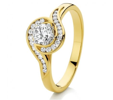 Canadian Fire Diamond Engagement Ring