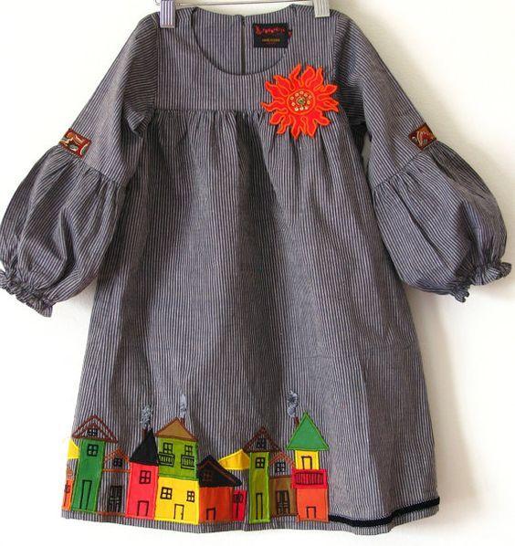 Купить готовую выкройку платья для девочек
