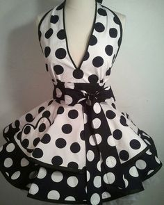 Marilyn Inspired Pin Up Apron, Halloween Costume -