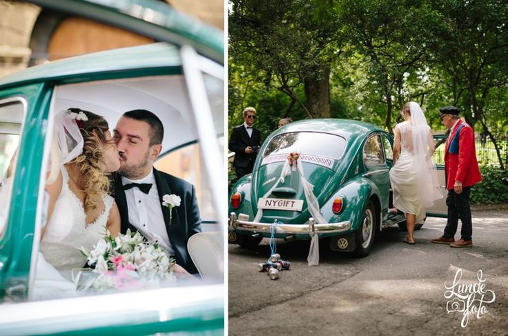 The cutest wedding car!! <3