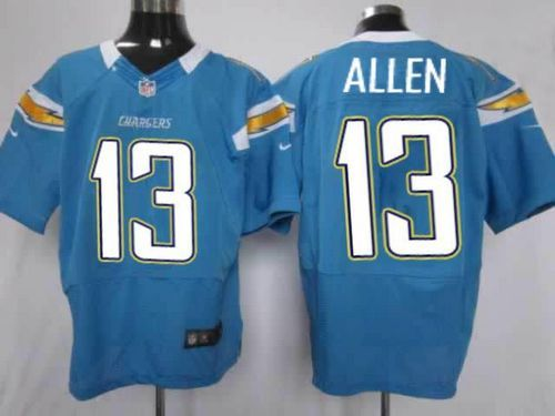 61b045527 ... Nike Chargers 13 Keenan Allen Electric Blue Alternate Mens Stitched NFL  Elite Jersey ...