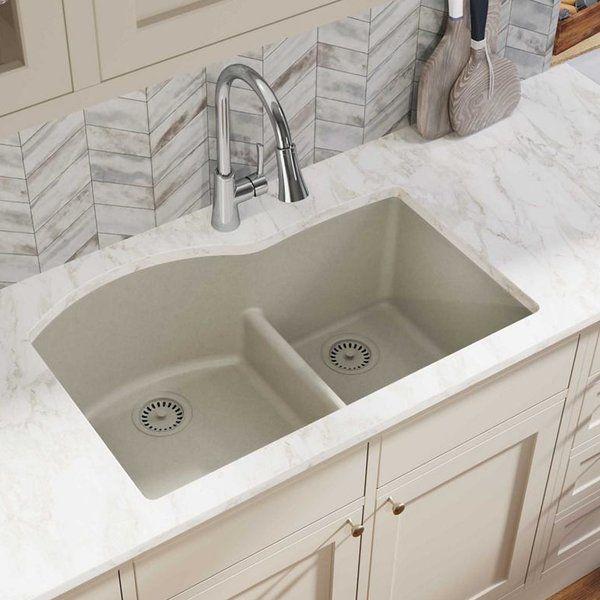 Quartz Classic 33 L X 22 W Double Basin Undermount Kitchen Sink Drop In Kitchen Sink Undermount Kitchen Sinks Sink
