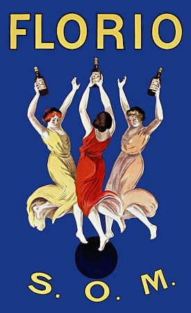 Florio S.O.M. by Cappiello. 1911 http://www.vintagevenus.com.au/collections/drinks/products/vintage_poster_print-d504