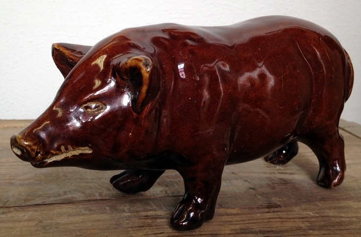 very old red wing stoneware albany pig
