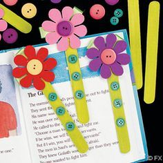 Marcapaginas con flores