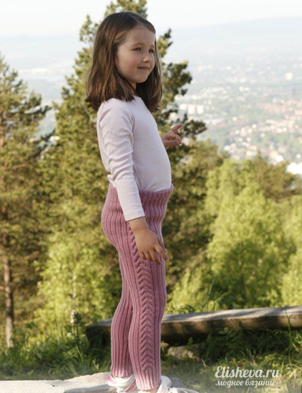Необычные лосины для девочки от Drops Design вязаные спицами | Блог elisheva.ru