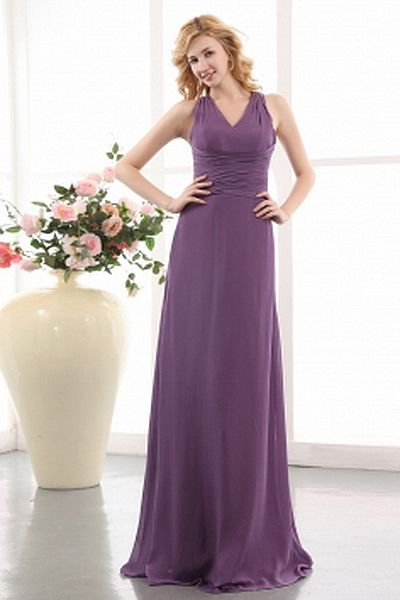V-Neck A-Line Chiffon Mother Of Bride Dresses wr1214 - http://www.weddingrobe.co.uk/v-neck-a-line-chiffon-mother-of-bride-dresses-wr1214.html - NECKLINE: V-Neck. FABRIC: Chiffon. SLEEVE: Sleeveless. COLOR: Purple. SILHOUETTE: A-Line. - 111.59