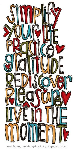 simplify, practice, rediscover, and live
