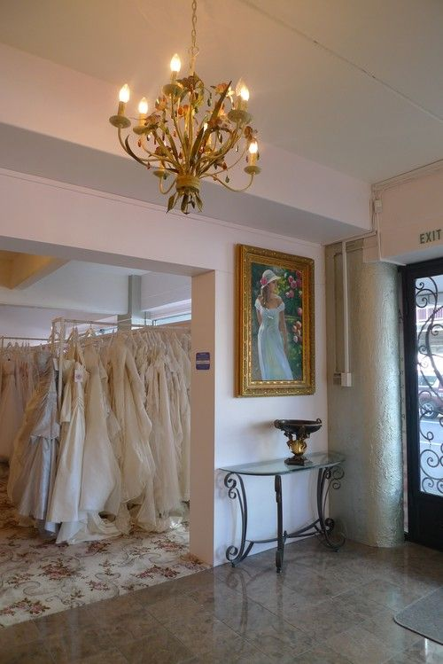 Our luxurious, French-inspired bridal showroom.