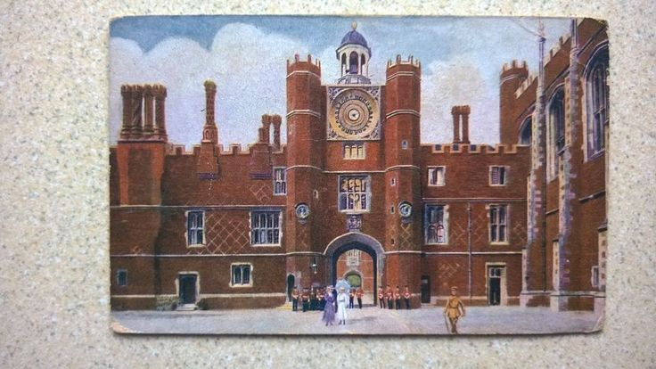Postcard of The Clock Tower. Hampton Court Palace by GALE & POLDEN