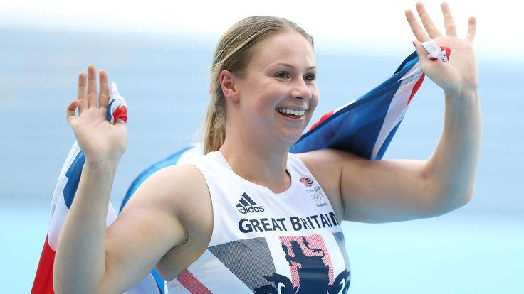 Sophie Hitchon threw a British record to claim a bronze medal in the women's hammer with her very last throw of a competition that also saw another world record fall.