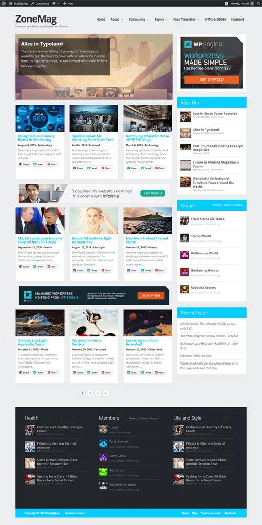 """Ücretsiz WordPress Responsive Magazin ve Teknoloji Teması """"ZoneMag"""""""