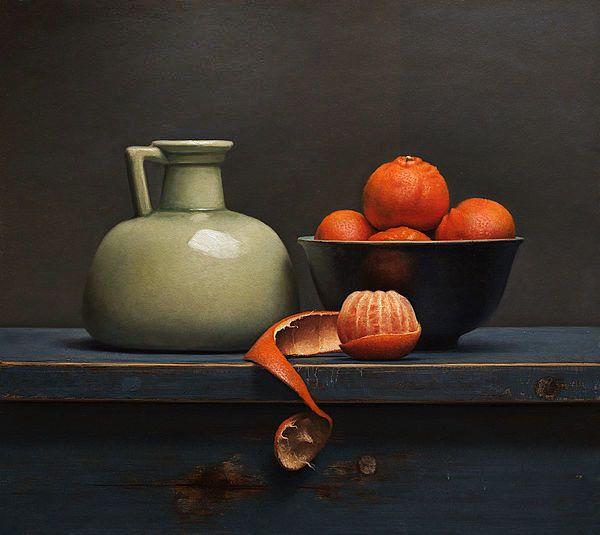 Gemälde: Stillleben mit Clementinen