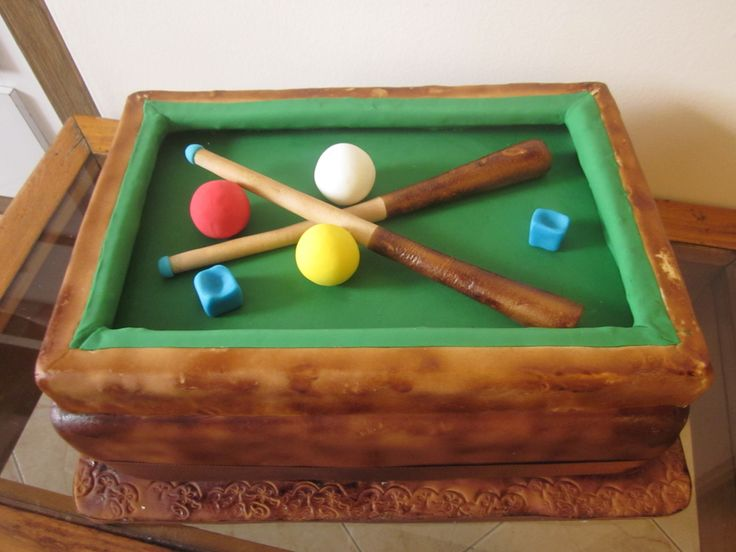 Cakes pool table