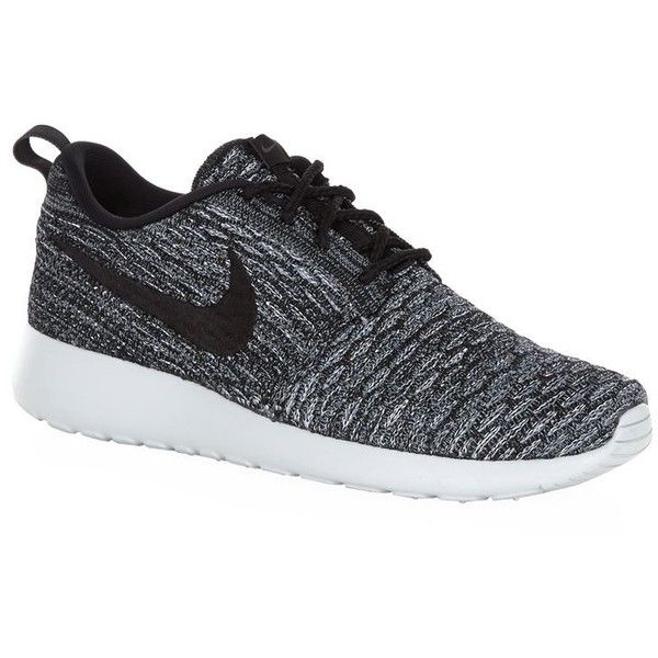 Nike Roshe One Flyknit Running Shoe ($155) ❤ liked on Polyvore featuring shoes, athletic shoes, sneakers, athletic running shoes, running shoes, nike footwear, decorating shoes and nike athletic shoes