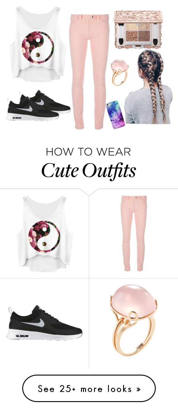 """""""cute outfit"""" by freefroggy on Polyvore featuring Balenciaga, NIKE and Goshwara"""