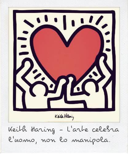 Keith Haring // L'arte celebra l'uomo, non lo manipola. #quotes