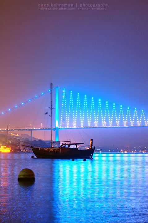 Bosphorus Bridge, Istanbul, Turkey - the only place I have ever taken a taxi between continents!  :-D