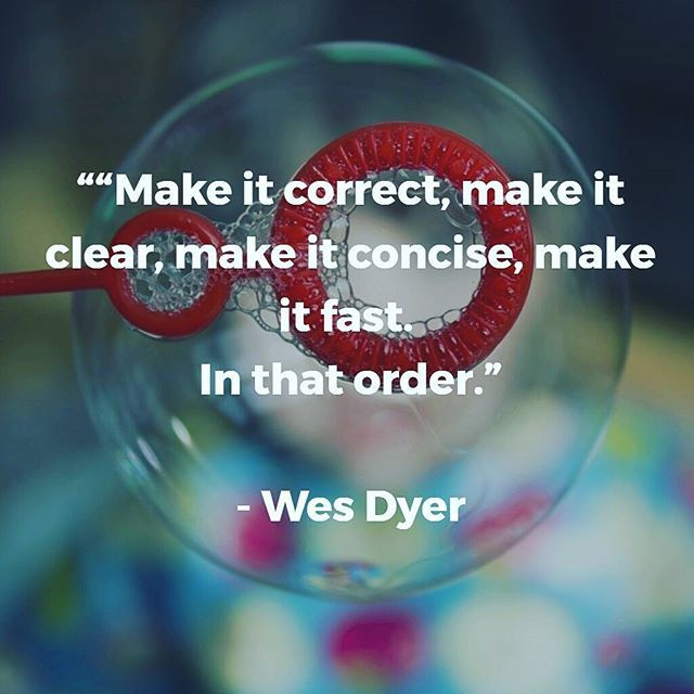 "Make it correct, make it clear, make it concise, make it fast. In that order."" - Wes Dyer    #code #precise #concise #fast #scalable #programming #css #html #php #java #javascript #php #ruby #go #software #development #refactor #design #arquitecture"