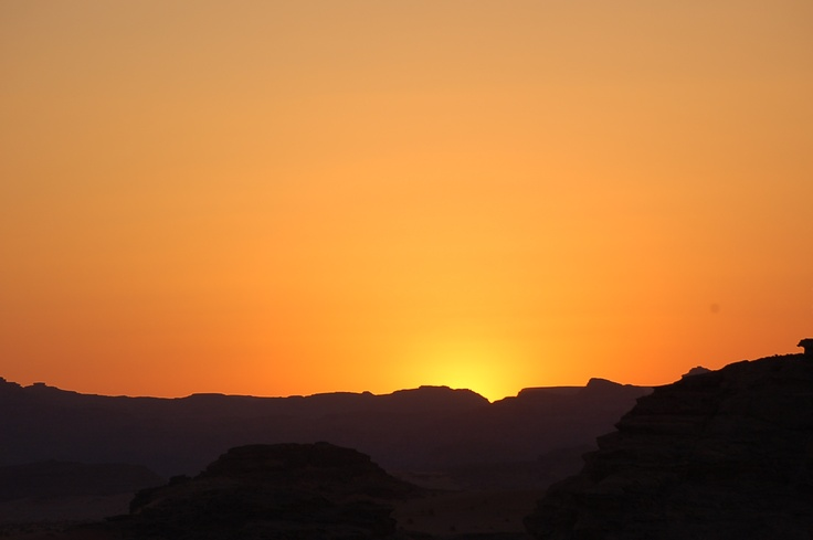 Tramonto nel deserto giordano